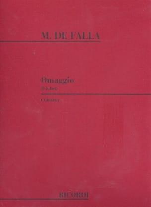 Omaggio -Chitarra - DE FALLA - Partition - Guitare - laflutedepan.com