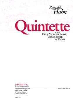 Quintette -Parties Reynaldo Hahn Partition Quintettes - laflutedepan