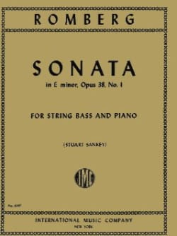 Sonata in E minor, op. 38 n° 1 - String bass laflutedepan