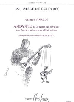 Andante du Concerto en sol majeur VIVALDI Partition laflutedepan