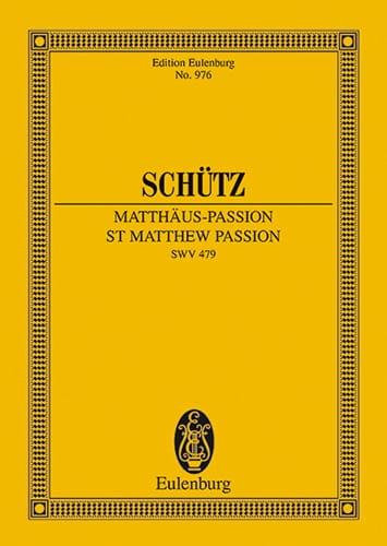 Matthäus-Passion - SCHUTZ - Partition - laflutedepan.com