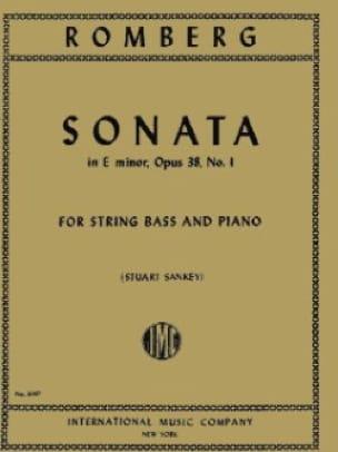 Sonata in E minor, op. 38 n° 1 - String bass - laflutedepan.com