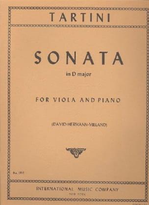 Sonata in D major - TARTINI - Partition - Alto - laflutedepan.com