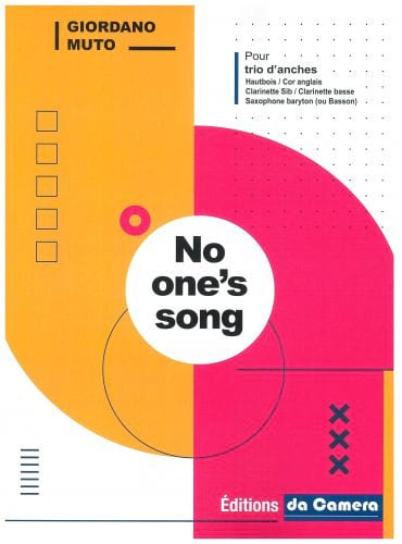 No one's song - Trio d'Anches - Giordano Muto - laflutedepan.com