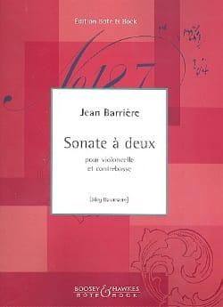 Sonate à deux - Jean Barrière - Partition - 0 - laflutedepan.com