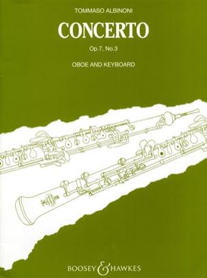 Concerto per oboe op. 7 n° 3 ALBINONI Partition laflutedepan