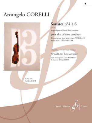 Sonates opus 5 n° 4 à 6 - Alto et BC CORELLI Partition laflutedepan