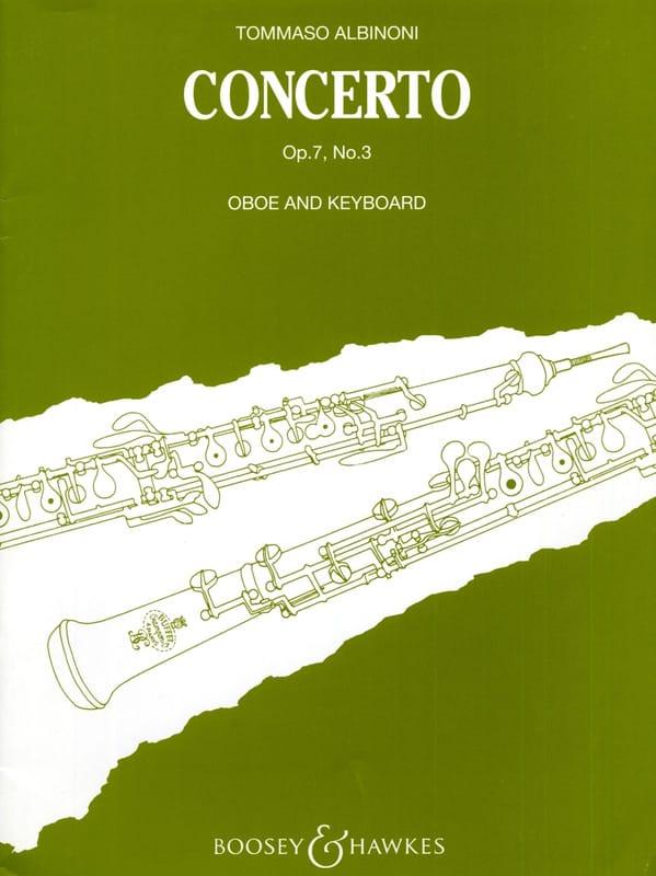 Concerto per oboe op. 7 n° 3 - ALBINONI - Partition - laflutedepan.com