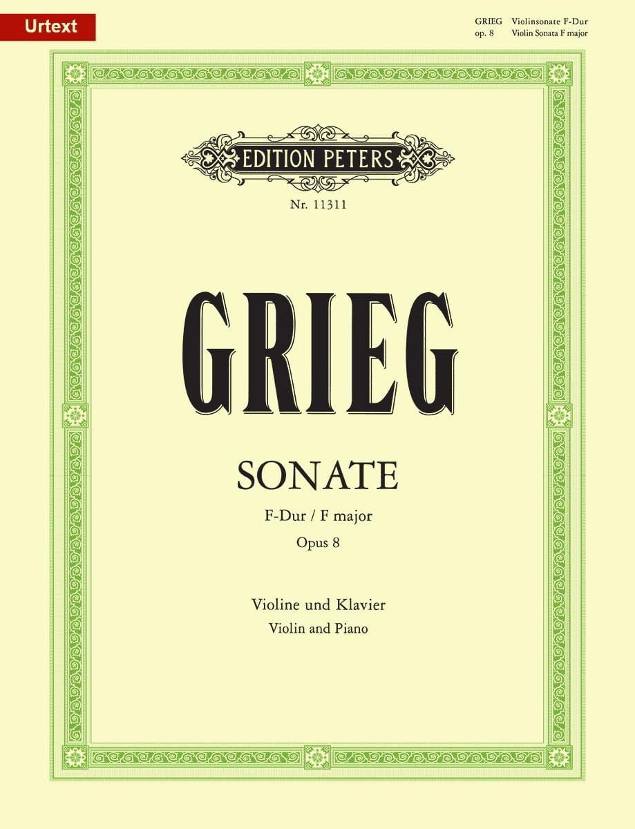 Sonate en Fa Majeur Opus 8 - GRIEG - Partition - laflutedepan.com