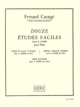 12 Etudes faciles - Flûte - Fernand Caratgé - laflutedepan.com