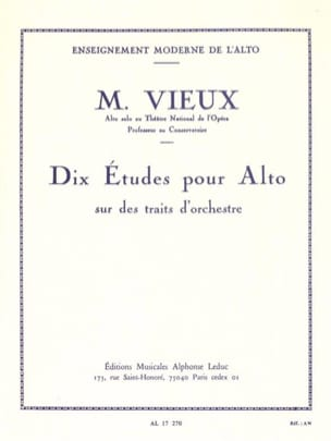 Maurice Vieux - Ten studies on orchestral strokes - Partition - di-arezzo.co.uk