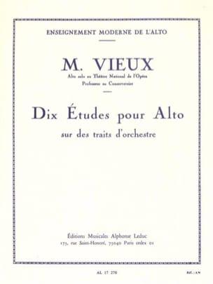 Dix études sur des traits d'orchestre Maurice Vieux laflutedepan