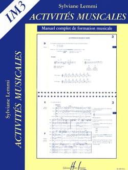 Activités musicales - Im3 - Sylviane Lemmi - laflutedepan.com