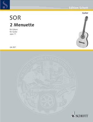 2 Menuette -Gitarre SOR Partition Guitare - laflutedepan
