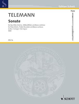 TELEMANN - Sonata G-Dur - Flute and Bc - Partition - di-arezzo.co.uk