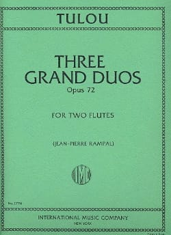 3 Grands Duos op. 72 - 2 Flûtes Jean-Louis Tulou laflutedepan