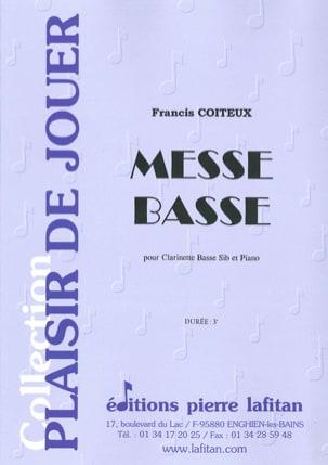 Messe Basse Francis Coiteux Partition Clarinette - laflutedepan
