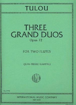 3 Grands Duos op. 72 - 2 Flûtes - Jean-Louis Tulou - laflutedepan.com