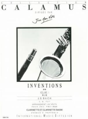 Inventions Volume 1 - 2 Clarinettes - BACH - laflutedepan.com