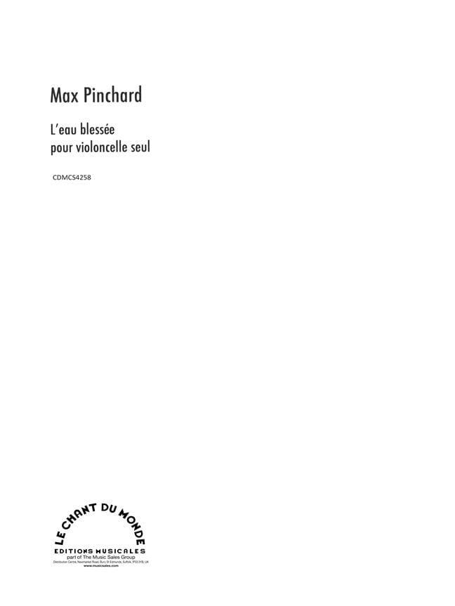 L' Eau Blessée - Pinchard - Partition - Violoncelle - laflutedepan.com