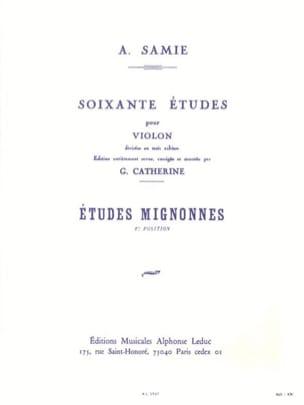 60 Etudes Volume 1 - Etudes Mignonnes A. Samie Partition laflutedepan