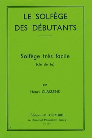 Henri Classens - Beginners' Solfeggio - Key of F - Partition - di-arezzo.com