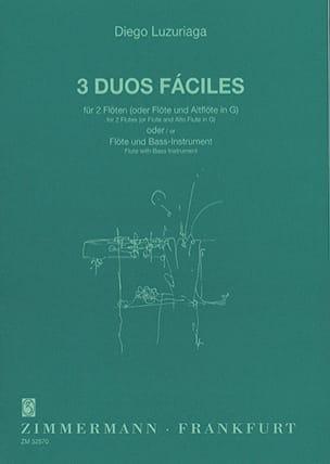 3 Duos Faciles - 2 Flöten Flöte u. Bass-Instrument laflutedepan