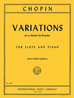 Variations on a theme by Rossini - Flute piano CHOPIN laflutedepan