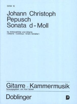 Sonate d-moll - Altblockflöte Gitarre laflutedepan