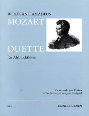 Duette - 2 Altflöten MOZART Partition Flûte à bec - laflutedepan