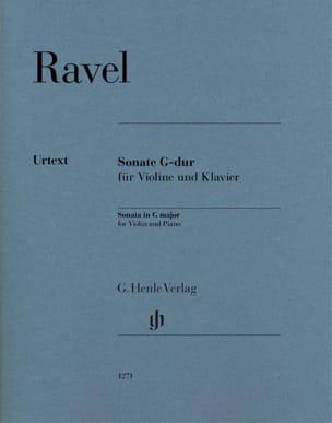 Sonate en Sol Majeur - Violon et piano RAVEL Partition laflutedepan