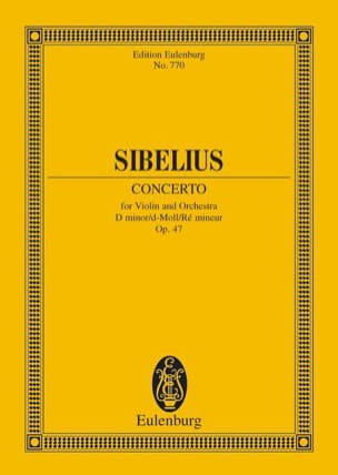 Violin-Konzert d-moll op. 47 - Partitur - SIBELIUS - laflutedepan.com