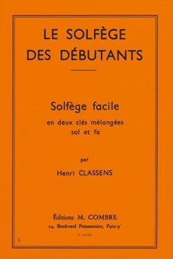 Henri Classens - Beginners' theory - 2 mixed keys - Partition - di-arezzo.com