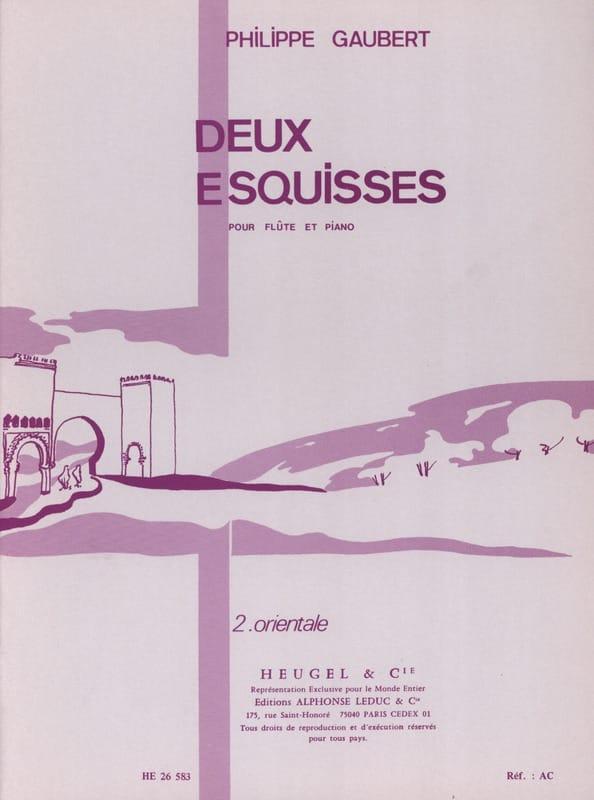 2 Esquisses n° 2 : Orientale - Philippe Gaubert - laflutedepan.com