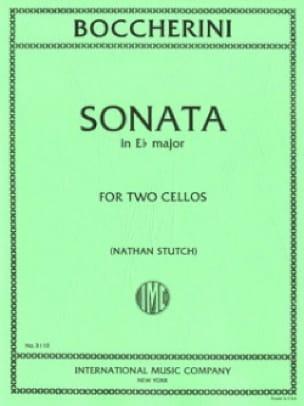 Sonata in E b major - 2 Violoncelles - BOCCHERINI - laflutedepan.com