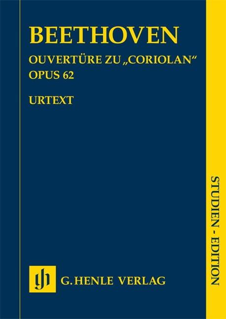 Ouverture Coriolan opus 62 - BEETHOVEN - Partition - laflutedepan.com