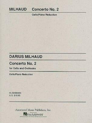 Concerto Violoncelle n° 2 MILHAUD Partition Violoncelle - laflutedepan