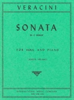 Sonata in E minor Francesco Maria Veracini Partition laflutedepan