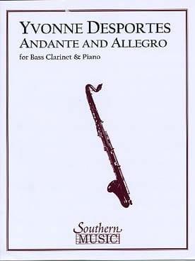 Andante et Allegro Yvonne Desportes Partition laflutedepan