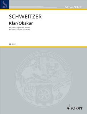 Klar / Obskur - Benjamin Schweitzer - Partition - laflutedepan.com