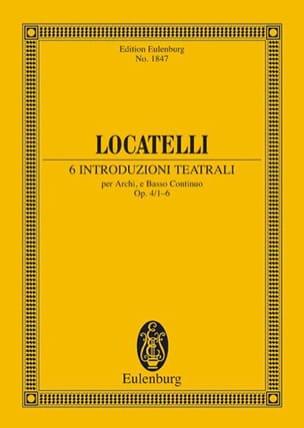 6 Introduzioni Teatrali Op.4/1 -6 LOCATELLI Partition laflutedepan