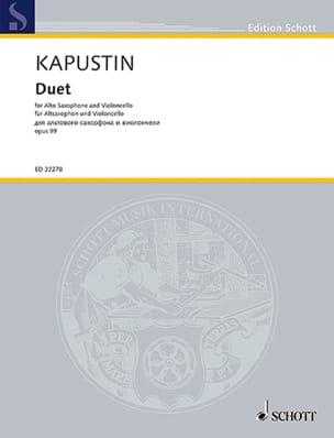 Duo opus 99 - Nikolai Kapustin - Partition - Duos - laflutedepan.com