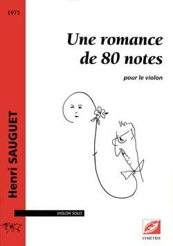Une romance de 80 notes - Violon solo Henri Sauguet laflutedepan