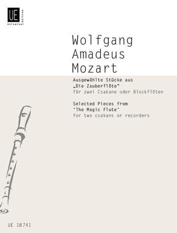 Ausgewählte Stücke aus Die Zauberflöte für 2 Csakane oder Blockflöten - laflutedepan.com