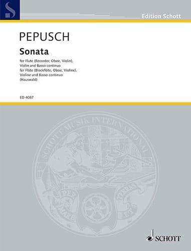 Sonate -Flöte Blockfl. Oboe Violine Violine u. Bc - laflutedepan.com