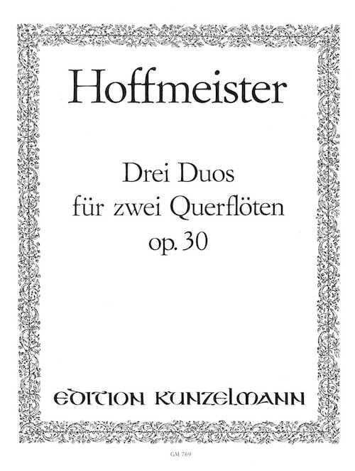 3 Duos op. 30 - 2 Flöten - HOFFMEISTER - Partition - laflutedepan.com