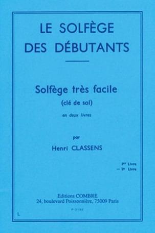 Henri Classens - Beginners' Solfeggio - Volume 2 treble clef - Partition - di-arezzo.com