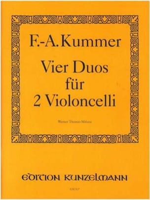 4 Duos op. 103 Friedrich-August Kummer Partition laflutedepan