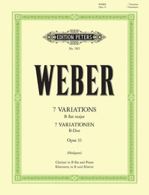 7 Variationen B-Dur op. 33 Carl Maria von Weber Partition laflutedepan
