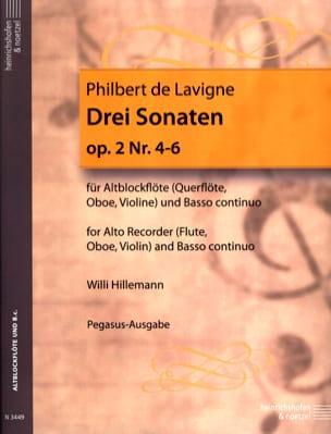 3 Sonaten op. 2 - Nr. 4-6 - Altblockflöte u. Bc laflutedepan